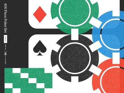 Fun & Games game packaging spade diamond money chips cards poker