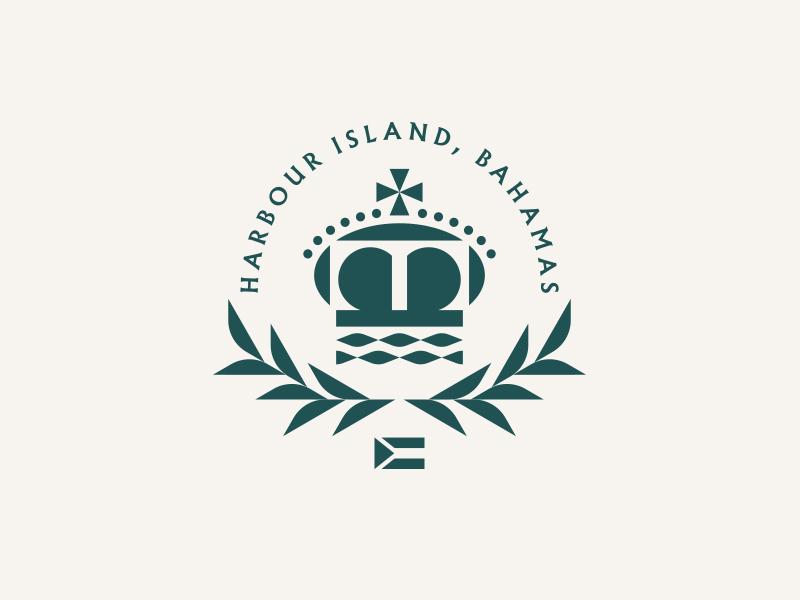 Harbour Island, Bahamas cross flag crest sea ocean water crown