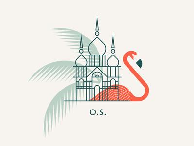 The Other Side eleuthera bahamas flamingo leaves palm cage bird