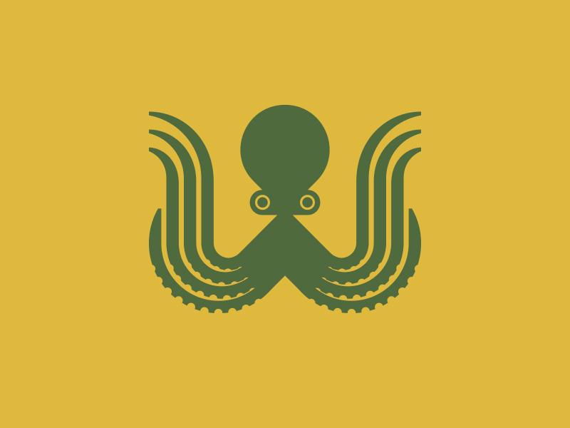 W fish ocean octopus