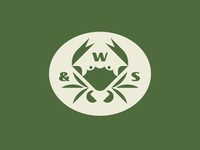 W&S badger patch water sea seafood ocean crab