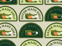 Gator made golf dribbble patches