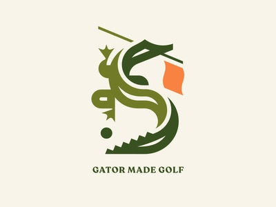 Gator Made Golf pt. II tail hole flag club alligator