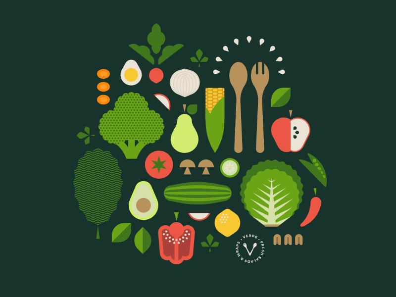 Vitamins & Minerals carrot pecan spoon onion radish green leaf avacado lemon salad lettuce apple egg corn vegetable fruit