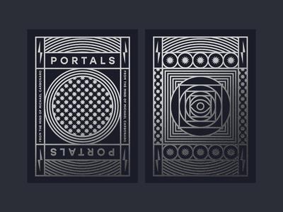 Portals portal magician magic bolt sun ace stars eye silver foil box deck cards