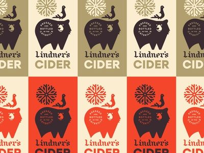 Lindner's Cider mountains seal burst leaves beer can york new cider snowflake bird pigeon bear