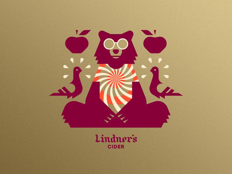 Lindner's Cider pt. V psychadelic hippie dye tie shirt pigeon bird apple beverage beer cider bear