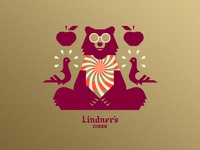 Lindner's Cider pt. V psychadelic hippie dye tie shirt pigeon bird apple beverage beer cider bear