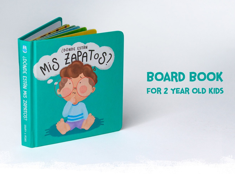 ¿DÓNDE ESTÁN MIS ZAPATOS? | BOARDBOOK DESIGN design book cover design book design book cover book illustration