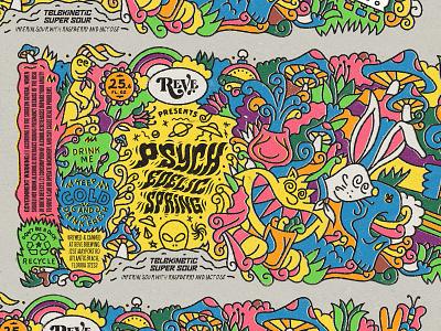 Beer Label label psychedelic spring reve brewing