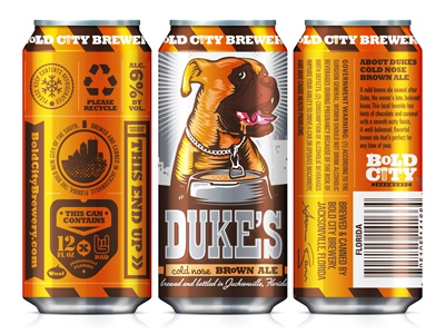 Duke's can bold city brewery packaging cans craft beer dukes