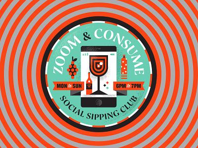 Indoor Badge Challenge II badge zoom happy hour social sipping club indoor badge challenge