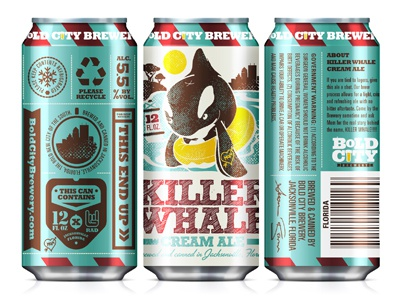 Killer Whale Can bold city brewery packaging cans craft beer killer whale
