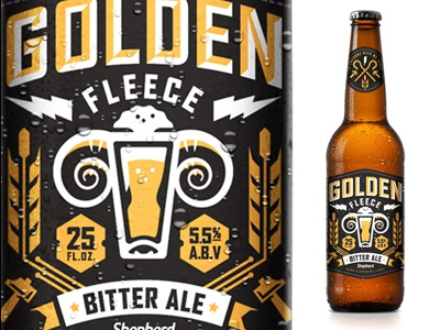 Office Beer beer packaging label design