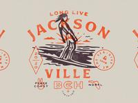 Peace Coast III illustration shirt