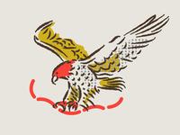 illustration boonedogs assets branding hotdogs eagle