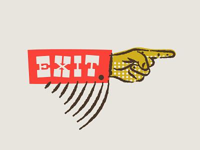 illustration II point exit hotdogs