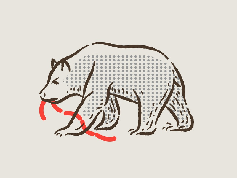 illustration IV boonedogs assets branding hotdogs bear illustration