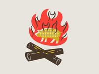 illustration VI branding boonedogs fire pig hotdog