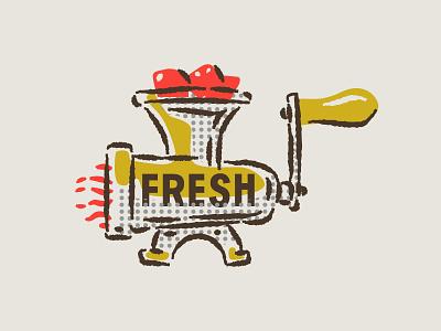 illustration VII assets branding grinder boonedogs meat hotdogs fresh