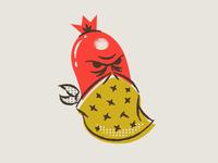 illustration VIII assets branding hotdogs boonedogs bandit