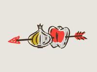 illustration IX branding boonedogs hotdogs arrow onion pepper
