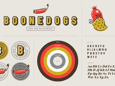 Branding assets branding logo hotdogs boonedogs