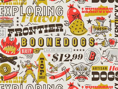 Branding II identity illustration hotdogs assets branding boonedogs