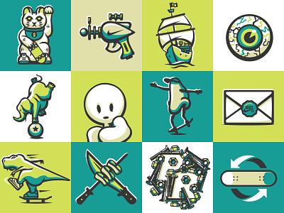 illustration III badges illustration skateboarding nike sb