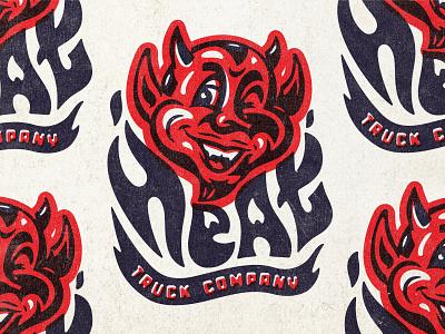 branding fire hot skateboarding trucks devil heat