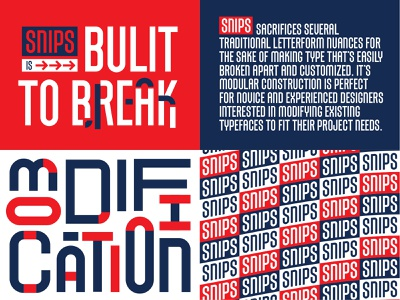 SNIPS II letterforms font typeface