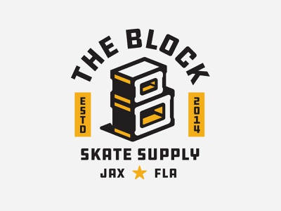 The Block Skate Supply skateboarding cinder block
