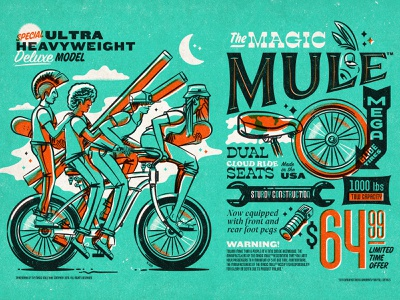 Illustration illustration the mule bikes peligro press megarides