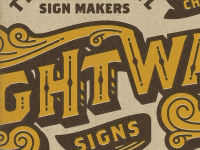 Type type lettering right way signs texture offset