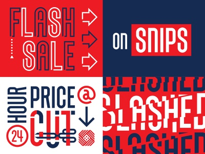 SNIPS type display font typeface