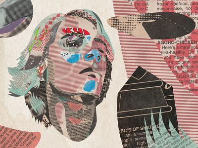 Illustration skateboarding jay adams collage illustraion