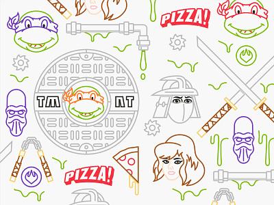 Illustration assets tmnt illustration nickelodeon teenage mutant ninja turtles