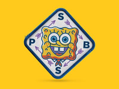 SpongeBob asstes badge spongeontherun nickelodeon patch spongebob