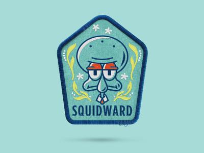 SpongeBob spongeontherun nickelodeon badge patch assets squidward spongebob