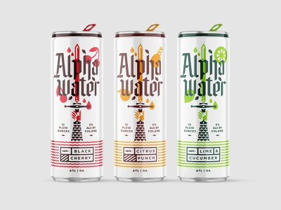 Hard Seltzer Packaging labels alpha water shepherd new realm brewing company hard seltzer