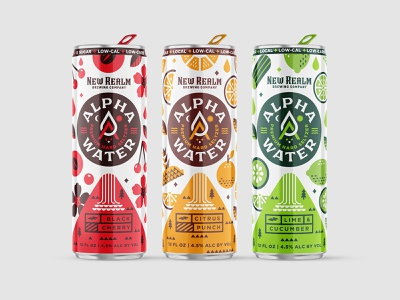 Hard Seltzer Packaging design alpha water shepherd new realm brewing can label packaging
