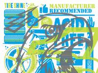 Eagleone screenprinted poster illustration kendrickkidd large
