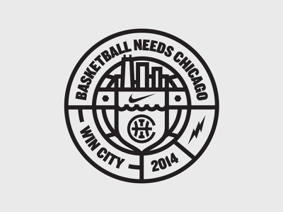 Badge win city chicago basketball badge nike