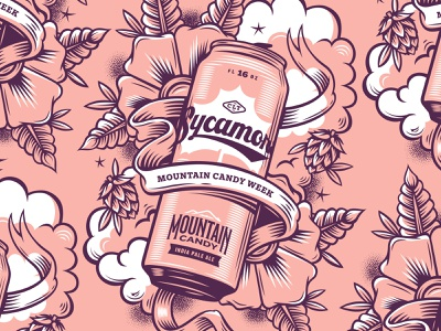 illustration illustration poster mountain candy week craft beer beer mountain candy sycamore brewing