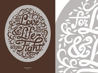 Letters and an Oval