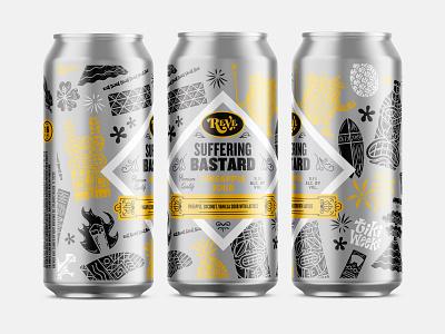Beer series illustration can suffering bastard tiki weeki reve brewing beer reve