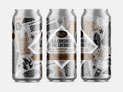 Beer tikiweeki illustration label can beer consider the coconut reve brewing reve