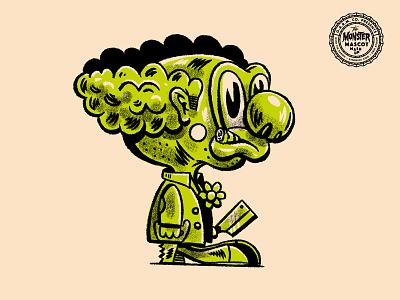Monster Mascot Mashup grainmaker haunt procreate character clown illustration halloween mashup monster mascot garm
