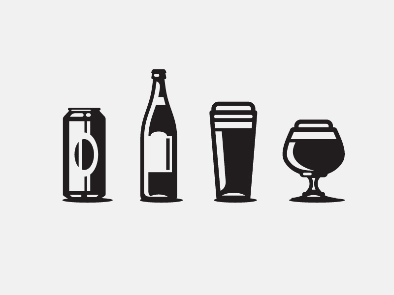 Icons beer glass craft beer beer illustraion icon wip