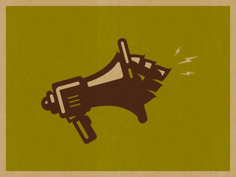 Icon megaphone hops craft beer beer illustraion icon wip